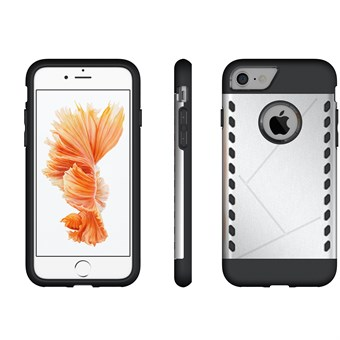 Image of   Eksklusive silikone/plastik cover til iPhone 7/ iPhone 8 - sølv