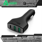 AUKEY CC-Y3 Car Charger 3-ports med USB Type C og Quick Charge 3.0