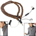 Necklace Headphones - Prayer Beeds