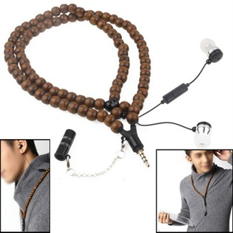 Image of   Necklace Headphones - Prayer Beeds