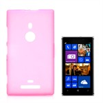 Hard Silicone Cover - Nokia 925 (Pink)