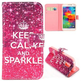 Image of   Fashion læder cover S5 Mini keep calm