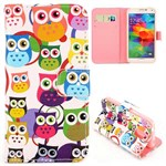 Fashion læder cover S5 Mini Round Eyes Owl