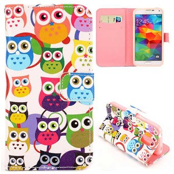 Image of   Fashion læder cover S5 Mini Round Eyes Owl