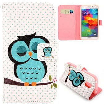 Image of   Fashion læder cover S5 Mini Sleeping Owl