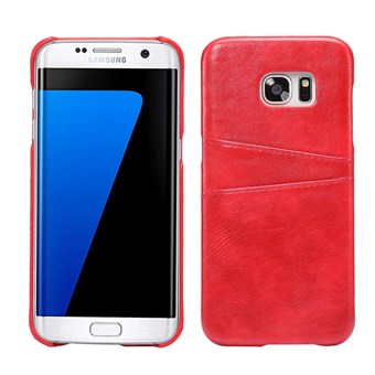 Image of   Smarty Leather Cover til Samsung Galaxy S7 Edge - Rød