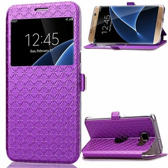 Image of   Smart window flip case Galaxy S7 Edge lilla