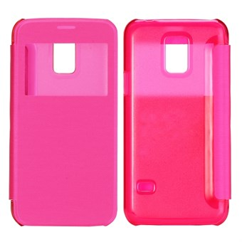 Image of   ID view caller flip cover Galaxy S5 mini (magenta)