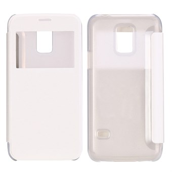 Image of   ID view caller flip cover Galaxy S5 mini (hvid)