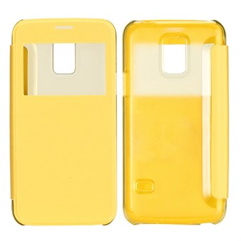 Image of   ID view caller flip cover Galaxy S5 mini (gul)