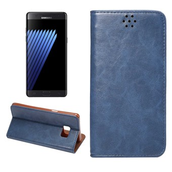 Image of   Clean PU Leather Etui til Note 7 - Blå