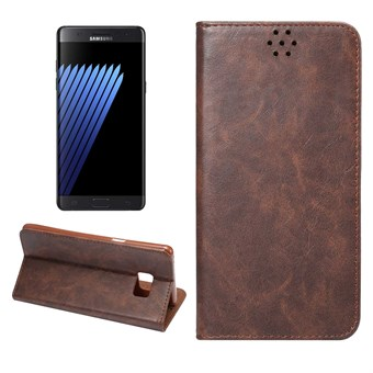 Image of   Clean PU Leather Etui til Note 7 - Brun