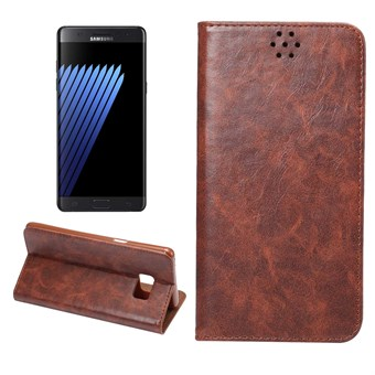 Image of   Clean PU Leather Etui til Note 7 - Coffee
