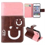 Cool smiley etui 4/4s (pink/brun)