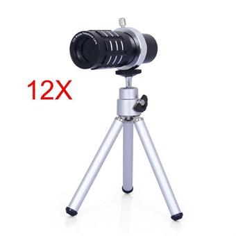 Image of   12x Optisk Teleskop med mini Tripod til smartphone/ Universal