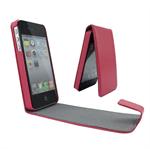 iPhone 4/4S Flap Etui (Magenta)