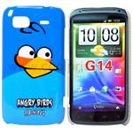 Angry Birds cover for HTC Sensation (Blå)