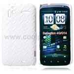 HTC Sensation L�der look Cover (Hvid)