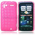 HTC Sensation L�der look Cover  (Pink)