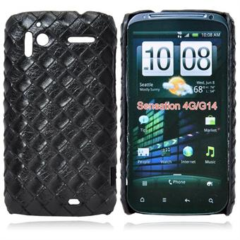 HTC Sensation Læder look Cover (Sort)