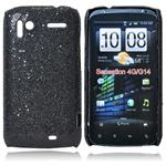 Skinnende Hard Case for HTC Sensation G14 (Sort)