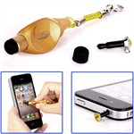 Multifunktions mini strap touch pen (Guld)