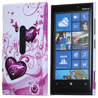 Image of   Lumia 920 Bling Motiv cover - Hjerter