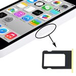 Nano sim kort holder iPhone 5C (Gul)