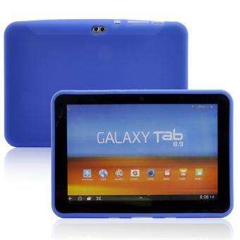 Image of   Samsung Galaxy Tab 8.9 Blødt Silicone Cover (Blå)