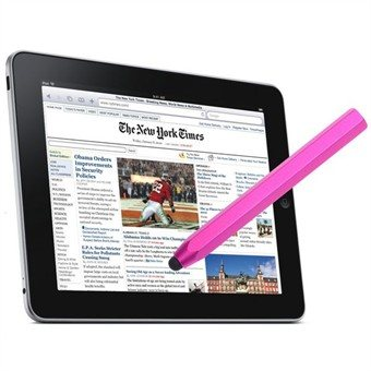 Image of   Tab Aluminium Metal Touch Pen (Pink)
