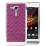 Bling Bling M Chrome Sider Xperia SP (Lilla)