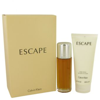 Image of   ESCAPE by Calvin Klein - Gift Set Eau De Parfum Spray + Body Lotion - til kvinder