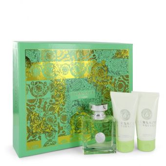 Image of   Versace Versense by Versace - Gift Set Eau De Toilette Spray + Body Lotion + Shower Gel - til kvinder
