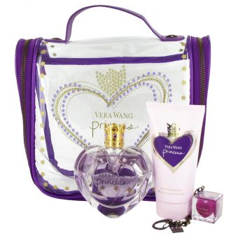 Image of   Princess by Vera Wang - Gift Set Eau De Toilette Spray + Body Lotion + . Lip Gloss + Travel Bag - til kvinder