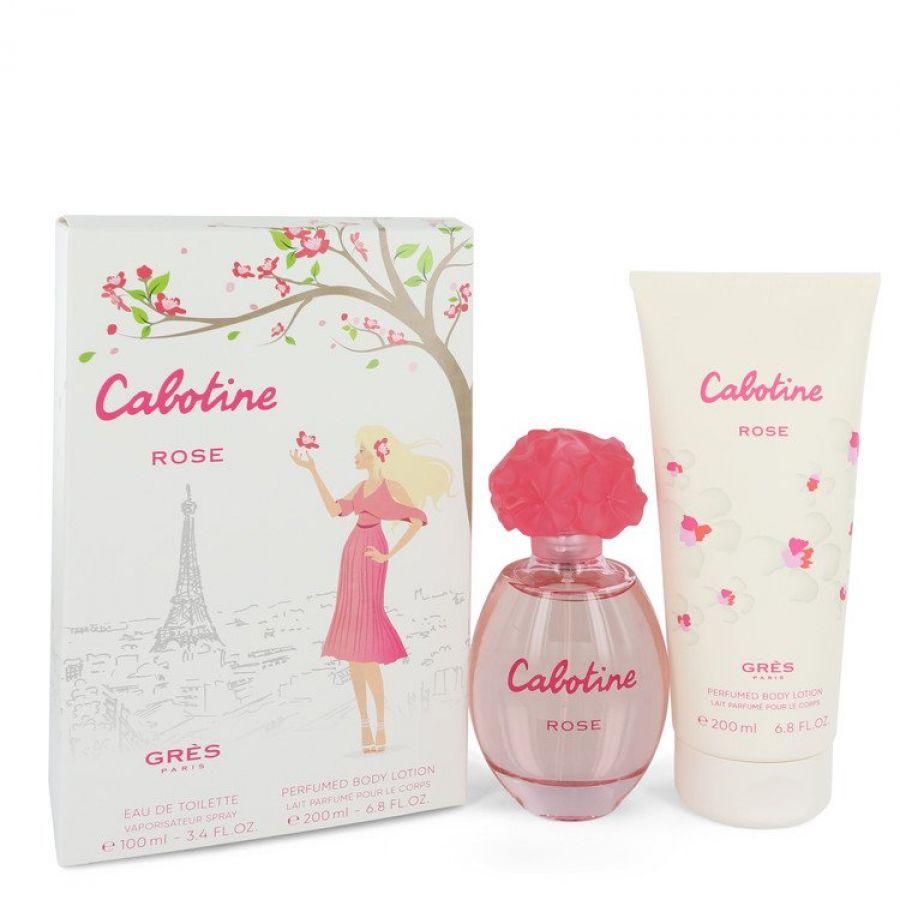 Cabotine Rose By Parfums Gres Gift Set Eau De Toilette Spray Women Body Lotion Til Kvinder