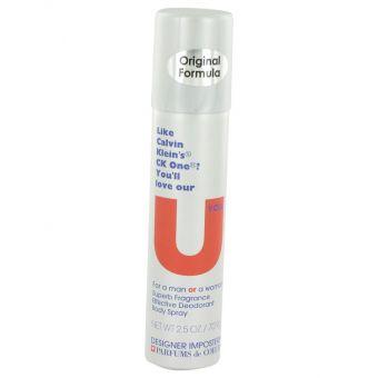 Image of   Designer Imposters U You by Parfums De Coeur - Deodorant Body Spray (Unisex) 75 ml - til kvinder