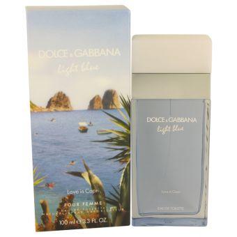 Image of   Light Blue Love in Capri by Dolce & Gabbana - Eau De Toilette Spray 100 ml - til kvinder