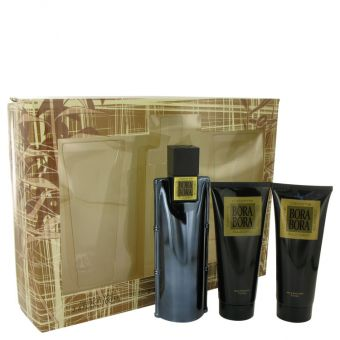 Image of   Bora Bora by Liz Claiborne - Gift Set Cologne Spray + Body Moisturizer + Hair & Body Wash - til mænd