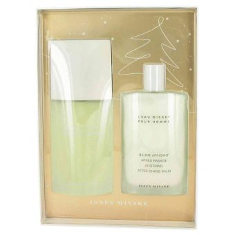 Image of   L'EAU D'ISSEY (issey Miyake) by Issey Miyake - Gift Set Eau De Toilette Spray + After Shave Balm - til mænd
