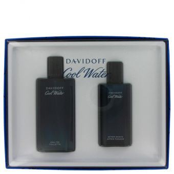 Image of   COOL WATER by Davidoff - Gift Set Eau De Toilette Spray + After Shave Splash - til mænd