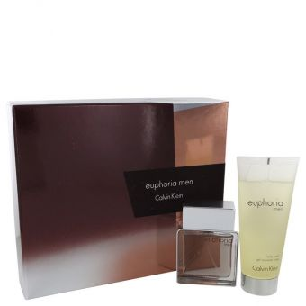 Image of   Euphoria by Calvin Klein - Gift Set Eau De Toilette Spray + Shower Gel - til mænd