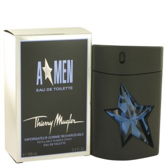 Image of   ANGEL by Thierry Mugler - Eau De Toilette Spray Refillable (Rubber) 100 ml - til mænd