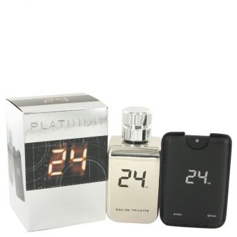 Image of   24 Platinum The Fragrance by ScentStory - Eau De Toilette Spray + 100 ml Mini Pocket Spray 100 ml - til mænd