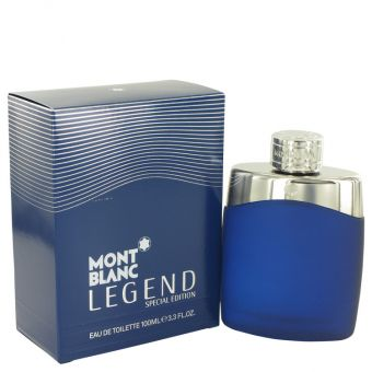 Image of   MontBlanc Legend by Mont Blanc - Eau De Toilette Spray (Special EditionBlue) 100 ml - til mænd
