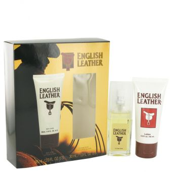 Image of   ENGLISH LEATHER by Dana - Gift Set Cologne Spray + Body Lotion - til mænd