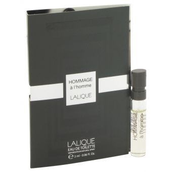 Image of   Lalique Hommage a L'Homme by Lalique - Vial (sample) .2 ml - til mænd