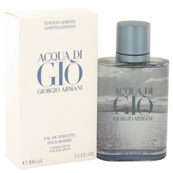 Image of   Acqua Di Gio Blue Edition by Giorgio Armani - Eau De Toilette Spray (Limited Edition) 100 ml - til mænd
