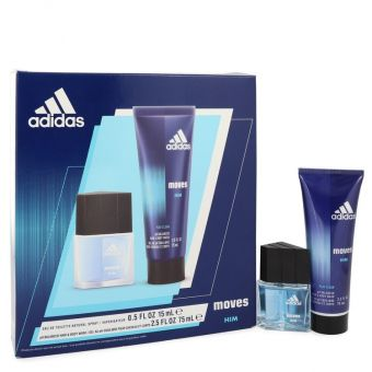 Image of   Adidas Moves by Adidas - Gift Set . Eau De Toilette Spray + Hair & Body Wash - til mænd
