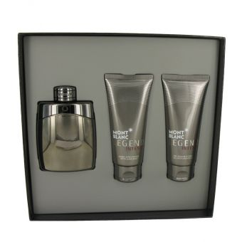 Image of   Montblanc Legend Intense by Mont Blanc - Gift Set Eau De Toilette Spray + After Shave Balm + Shower Gel - til mænd