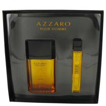 Image of   AZZARO by Azzaro - Gift Set Eau De Toilette Spray + Mini EDT Spray - til mænd